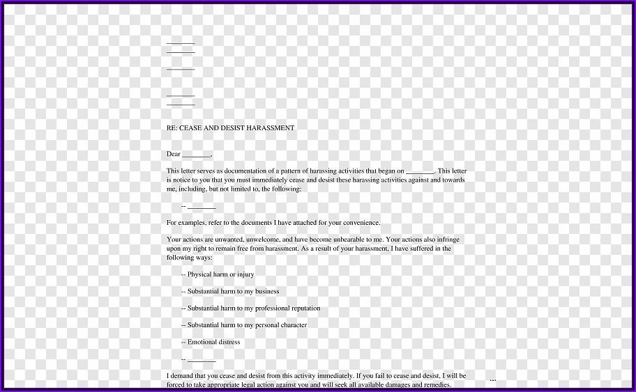 Defamation Cease And Desist Letter Template
