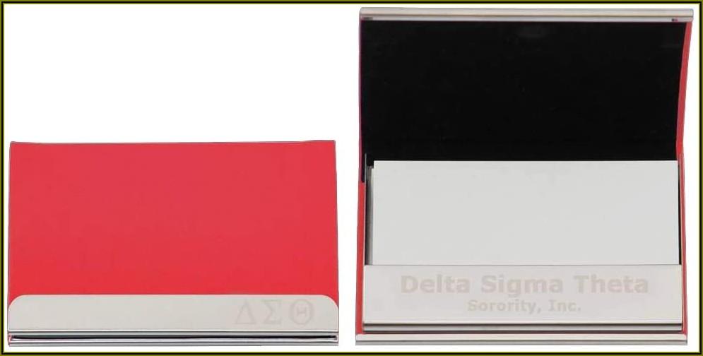 Delta Sigma Theta Business Card Holder