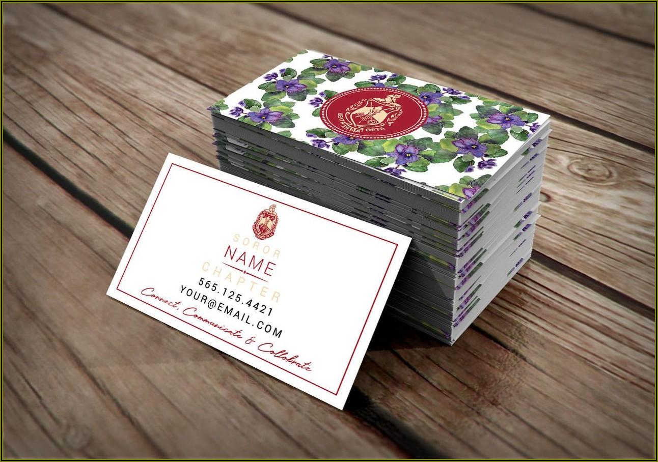 Delta Sigma Theta Business Cards