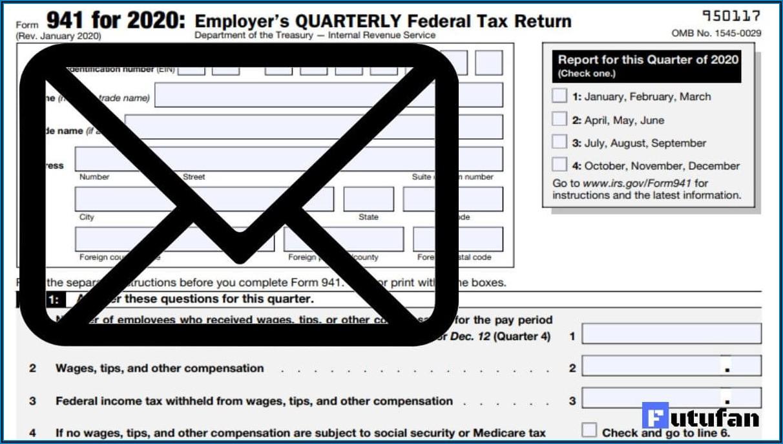 Department Of Treasury Internal Revenue Service Form 941