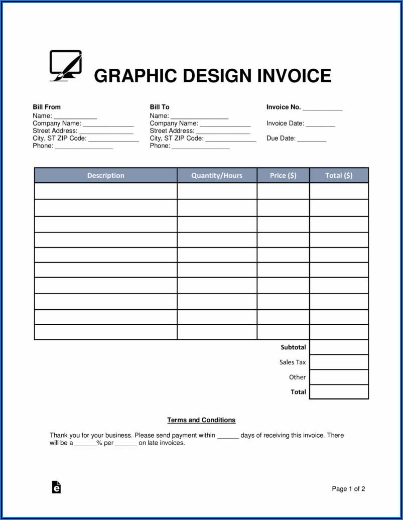 Dj Invoice Template Pdf