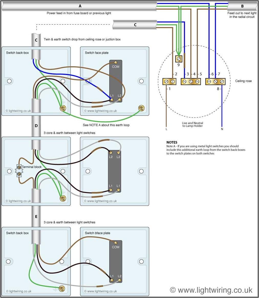 Double Light Switch Diagram Uk