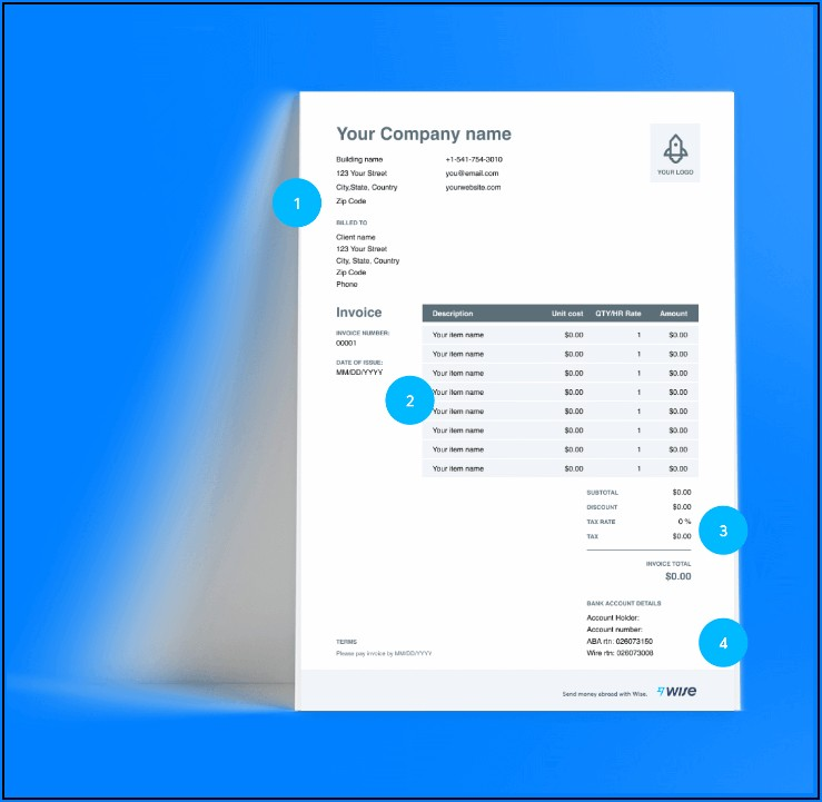 Download Free Invoice Template Open Office