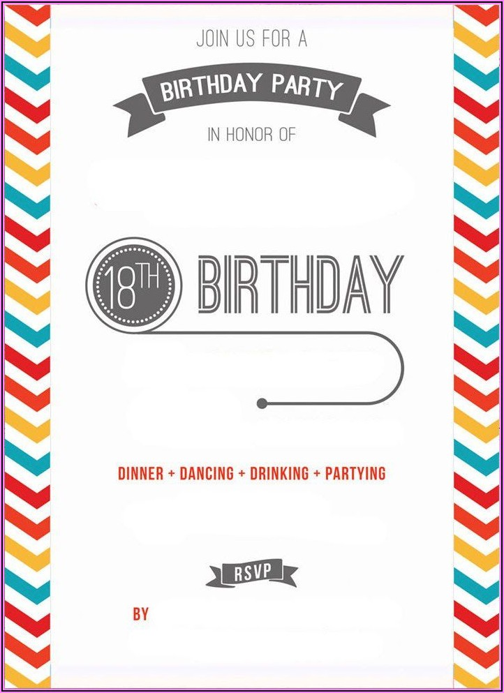 Downloadable Surprise Birthday Invitation Templates