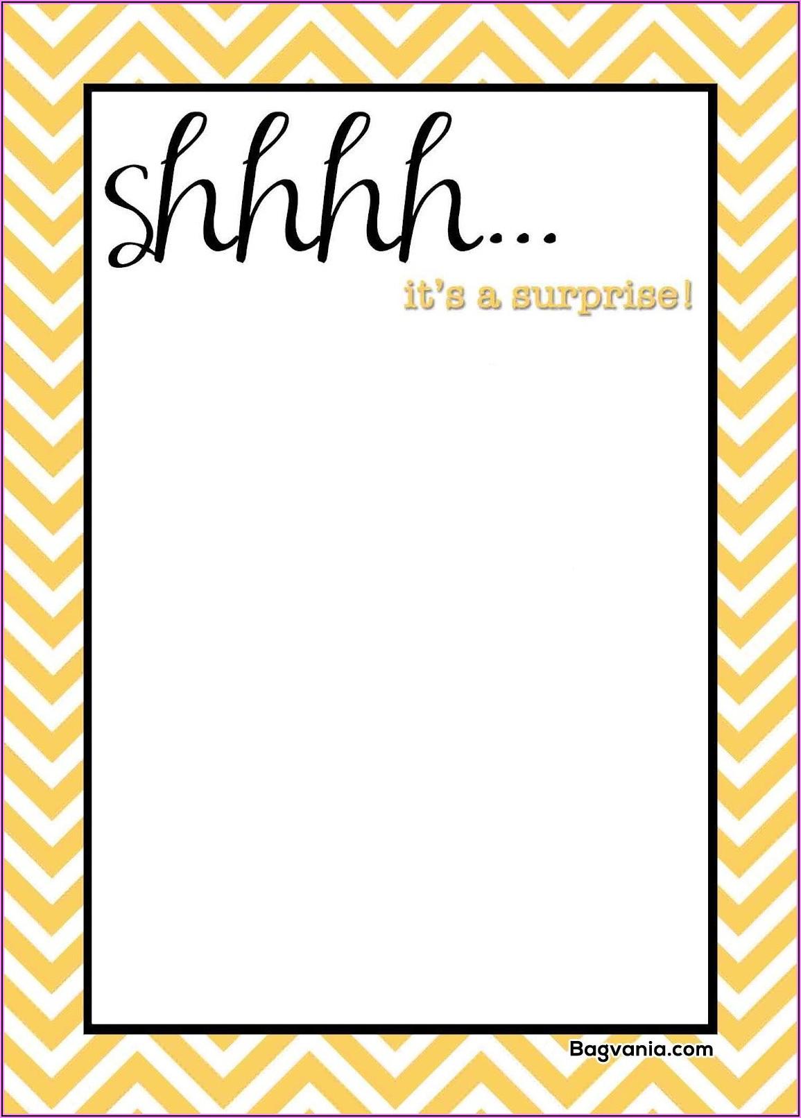 Downloadable Surprise Birthday Invitations