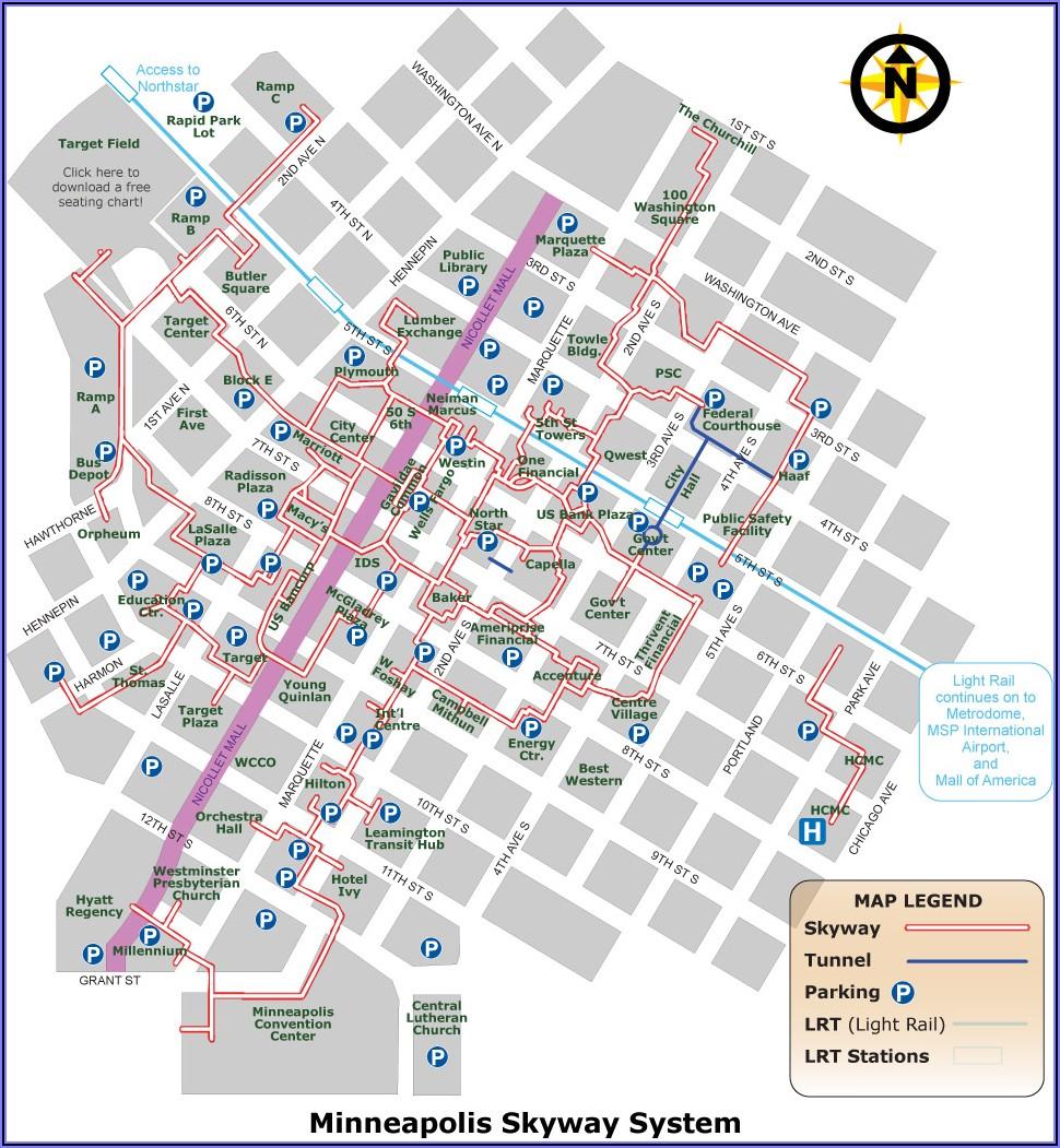 Downtown Minneapolis Skyway Map Pdf