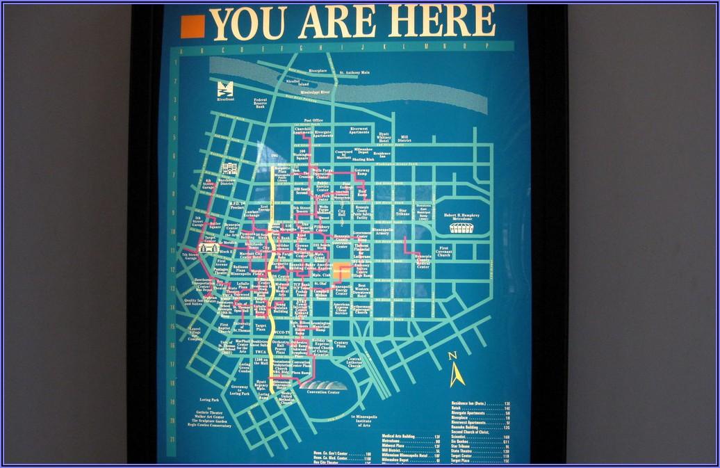 Downtown Minneapolis Skyway Map