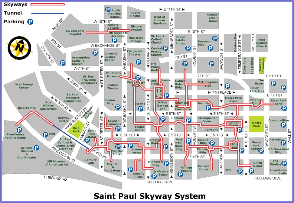 Downtown Mpls Skyway Map
