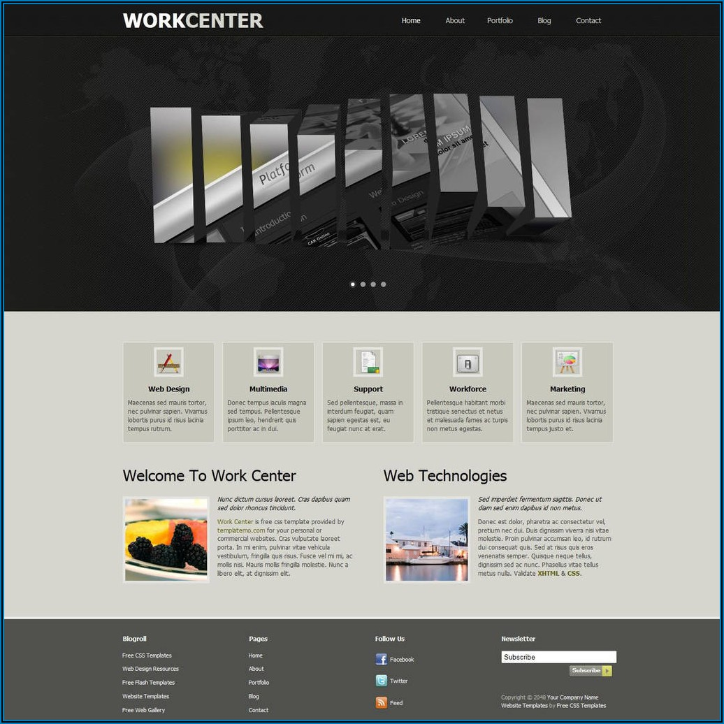Dreamweaver Contact Form Template
