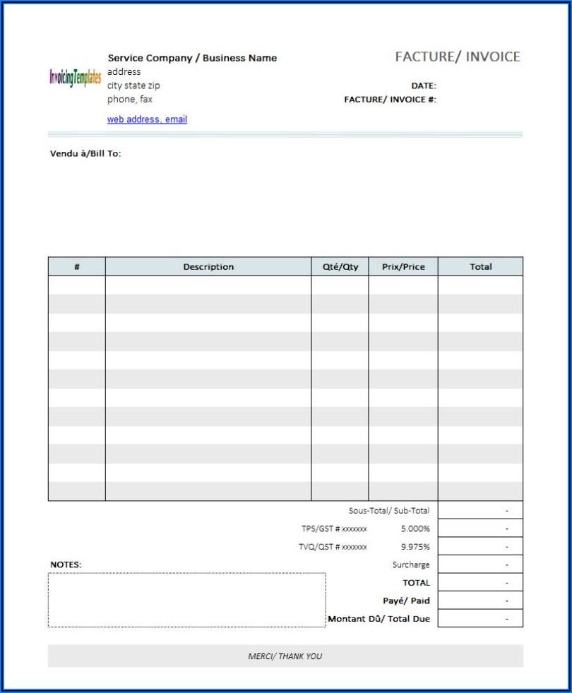 Editable Invoice Template Word