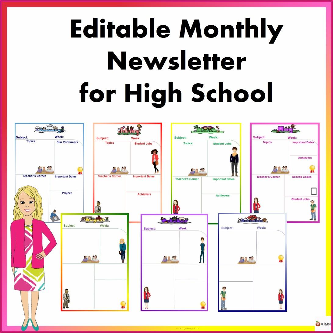 Editable School Newsletter Templates