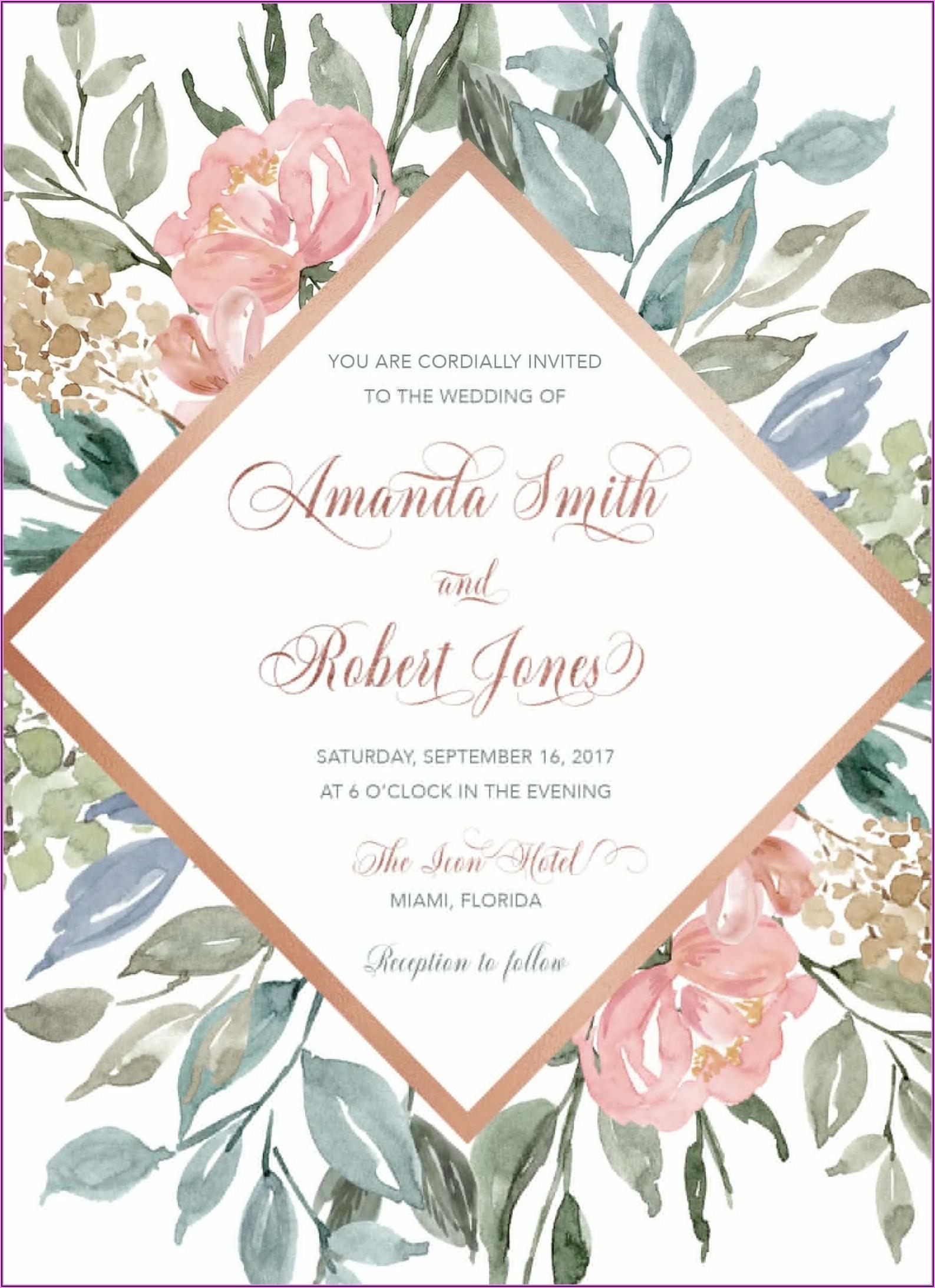 Elegant Rose Gold Wedding Invitations