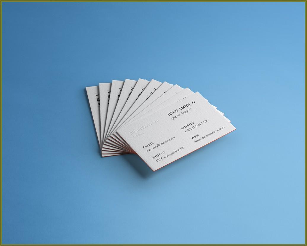 Emboss Name Card Mockup