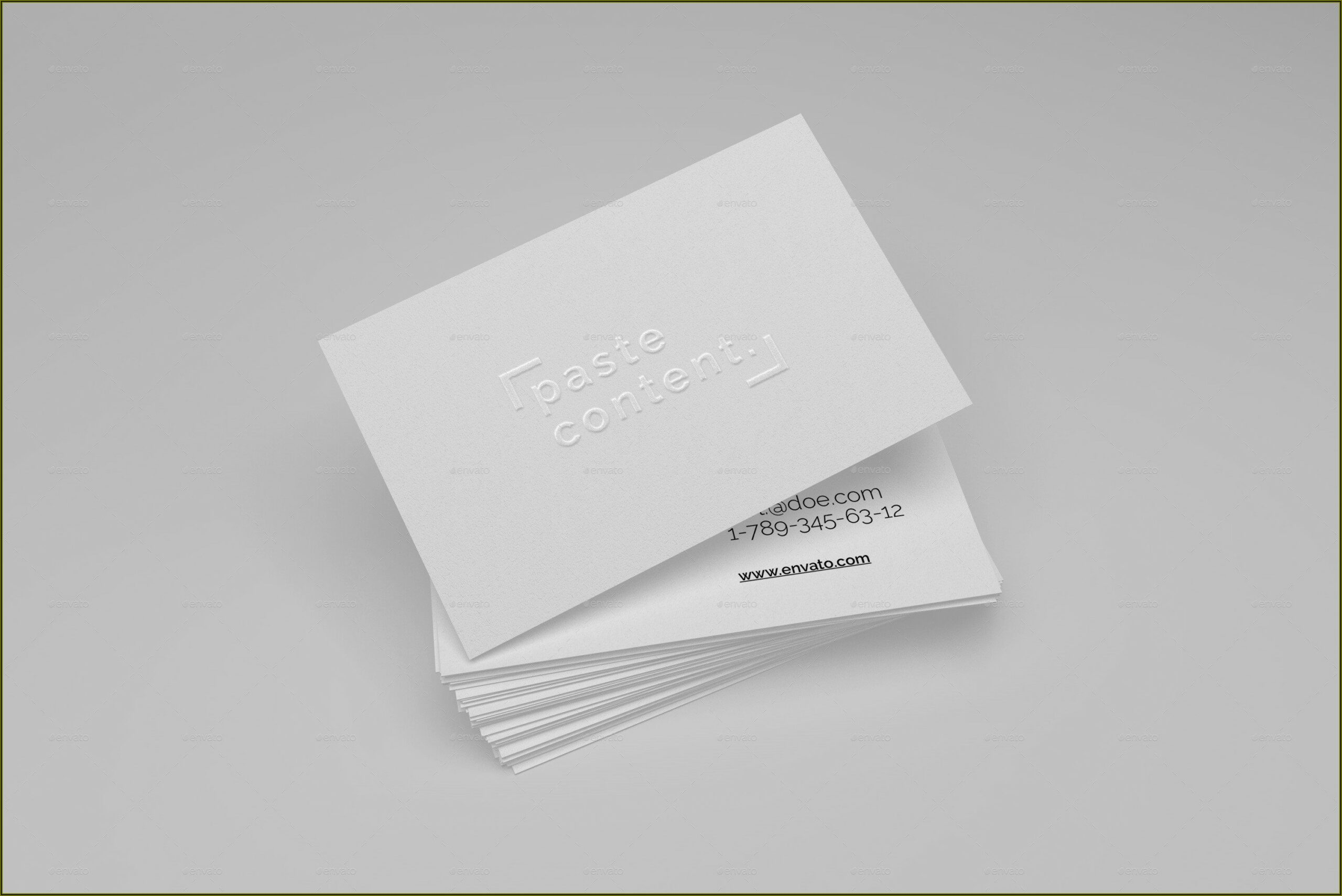 Embossed Business Cards Mockup
