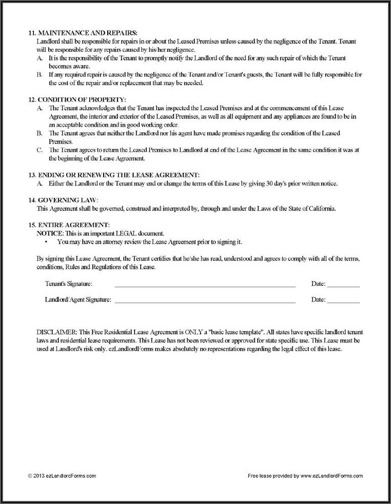 Equipment Lease Agreement Template Free Download