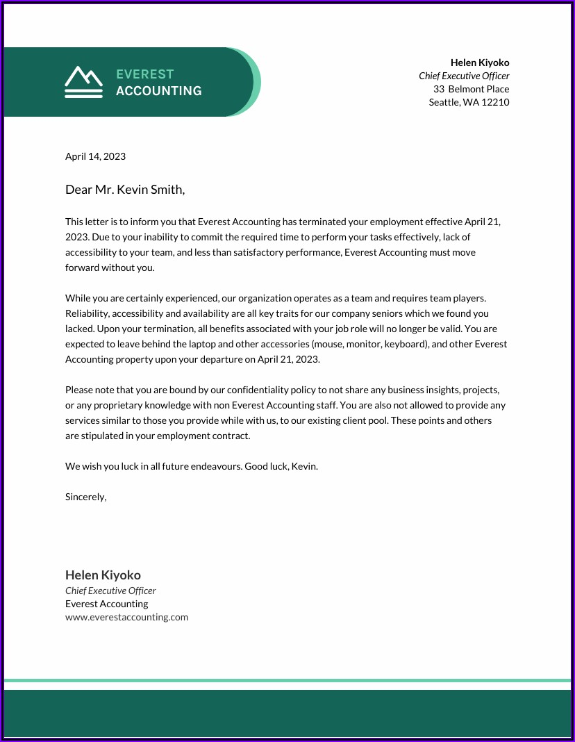 Essential Business Letter Template Word