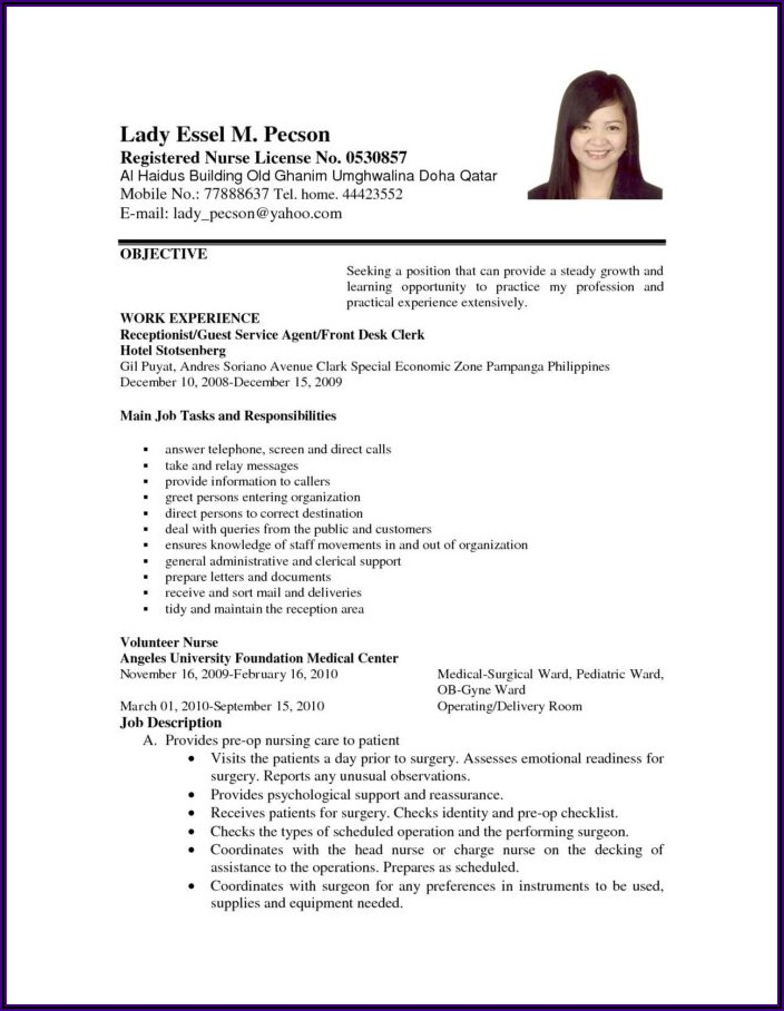Example Of Simple Objective In Resume