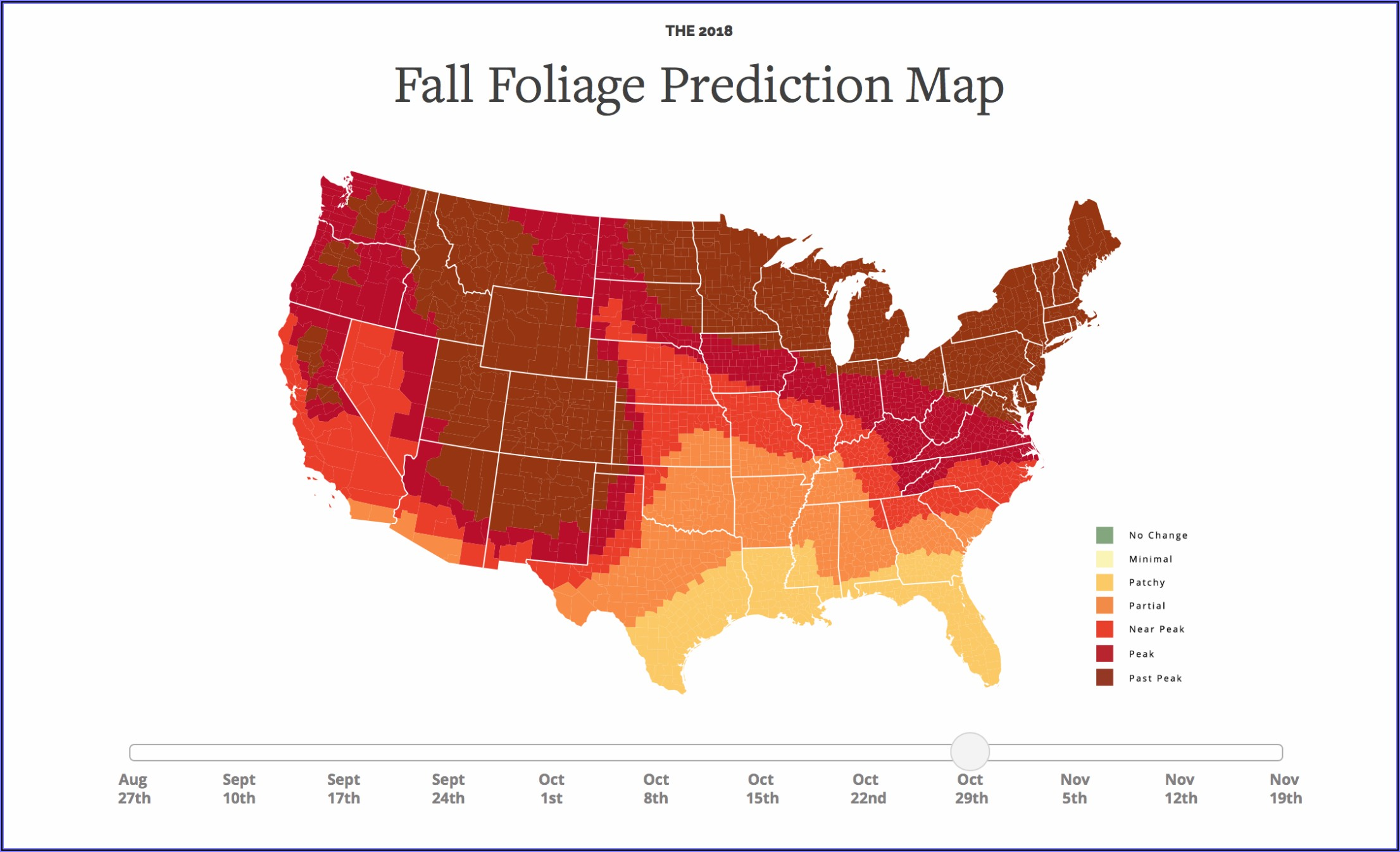 Fall Foliage Prediction Map 2018