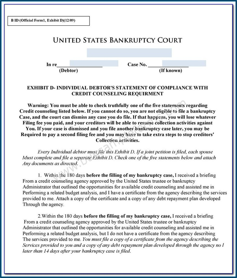Filing For Bankruptcy Chapter 7 In California