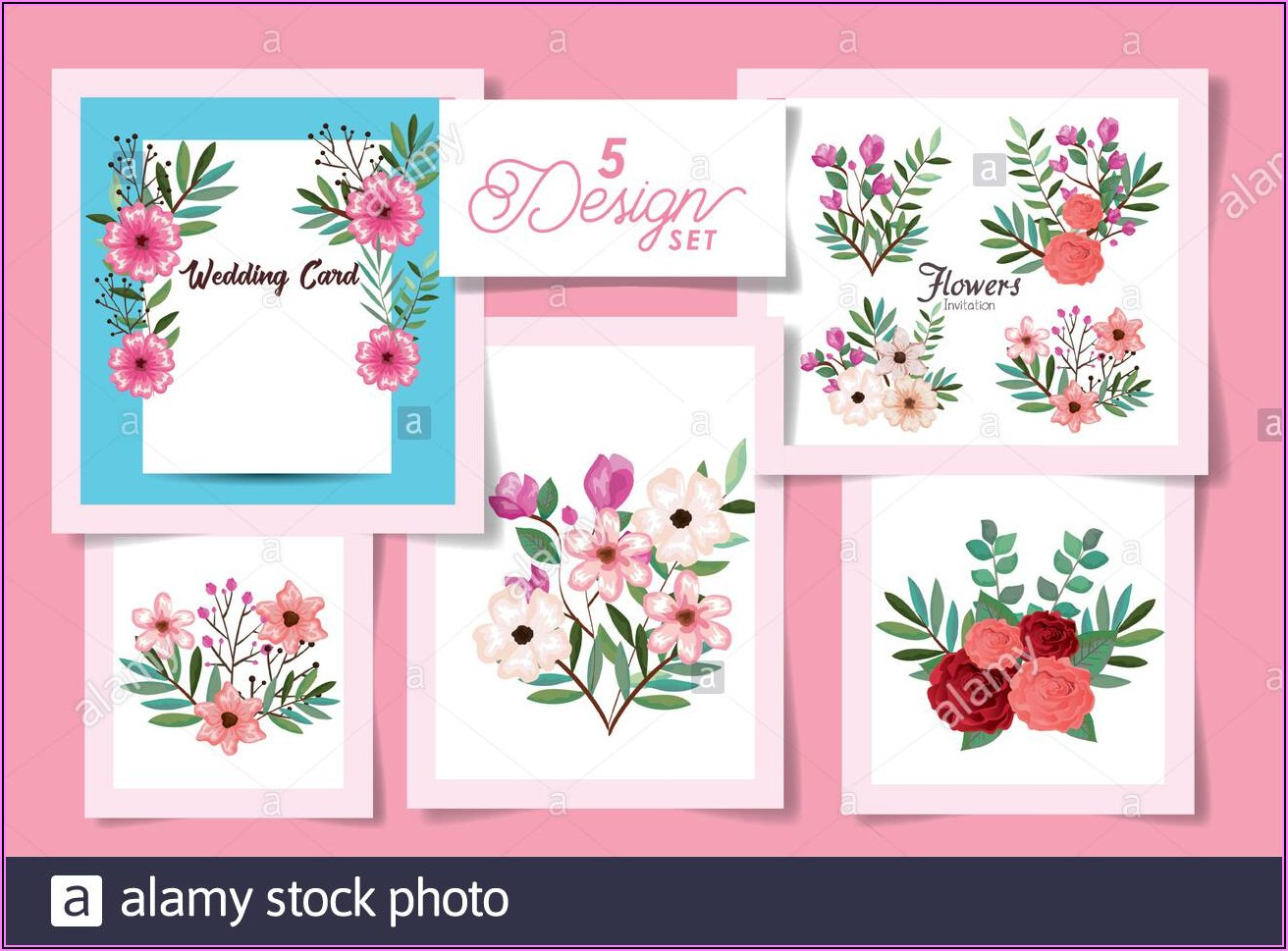 Flowers Wedding Invitation Designs