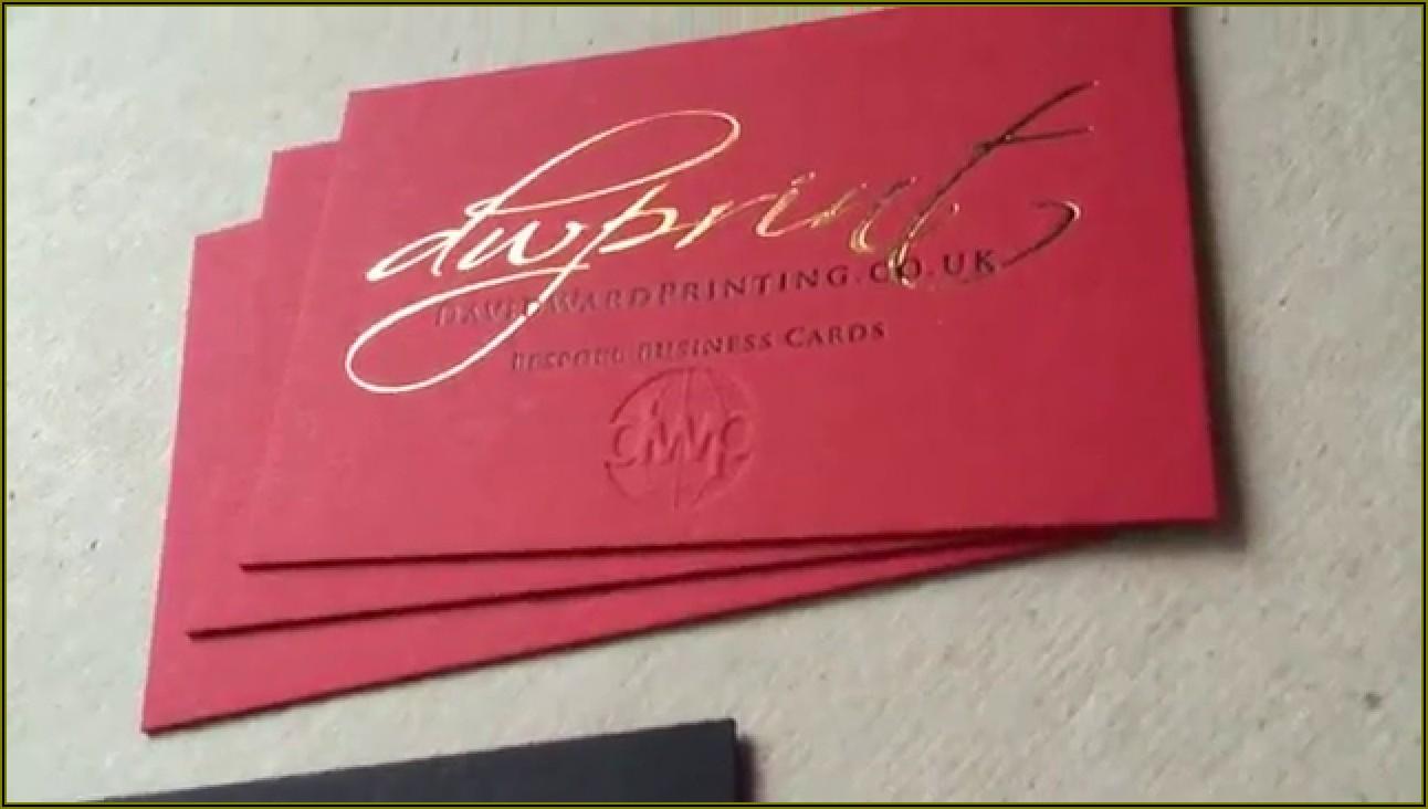 Foil Embossed Business Cards Uk