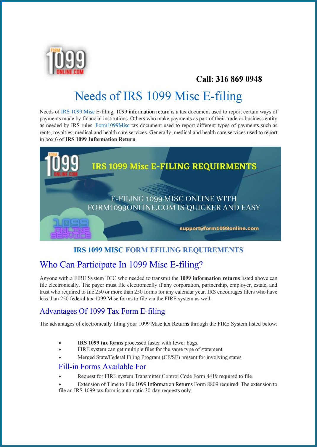 Form 1099 Electronic Filing Requirements