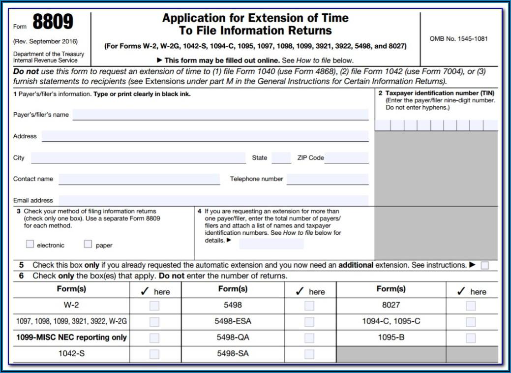 Form 1099 Filing Deadline 2019