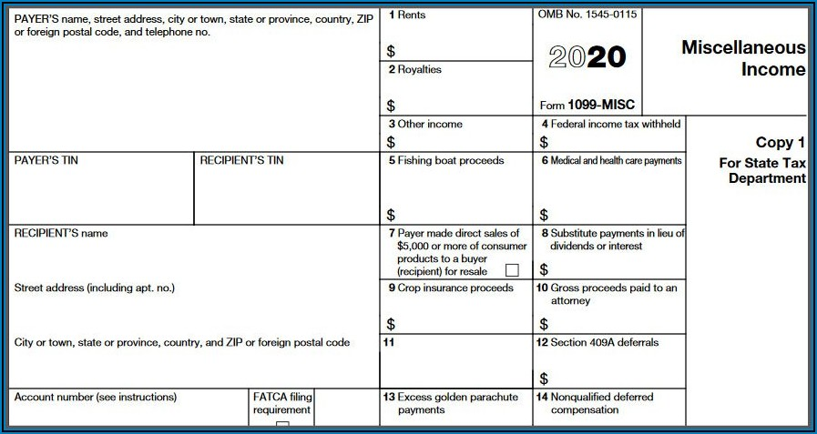 Form 1099 Filing Requirements 2019