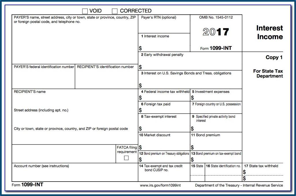 Form 1099 Int Filing Deadline
