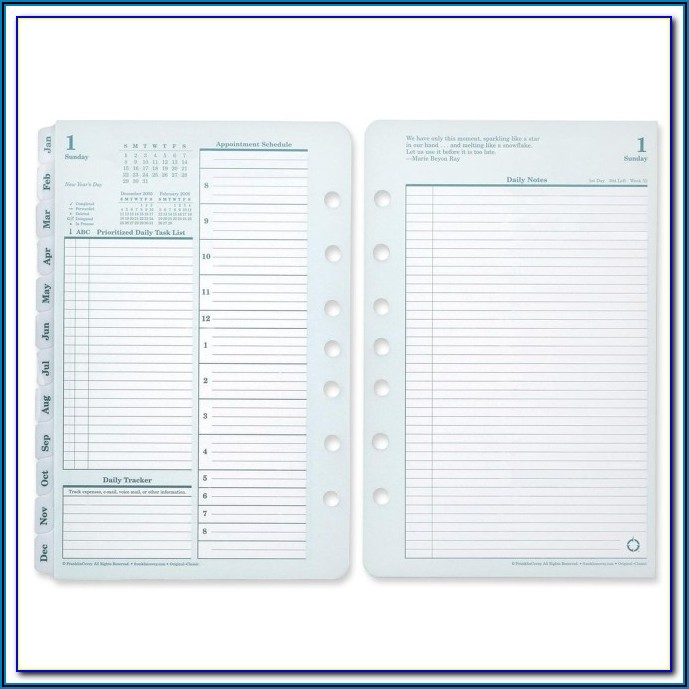 Franklin Covey Printable Forms