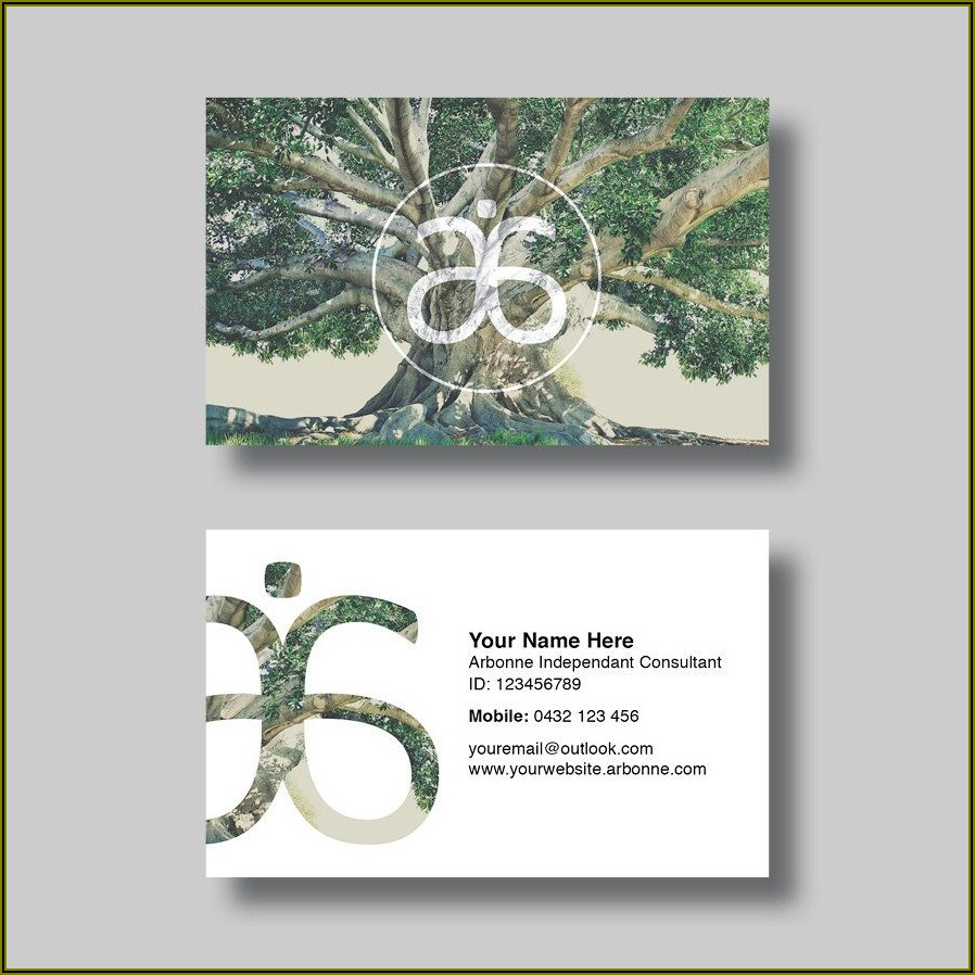 Free Arbonne Business Card Template