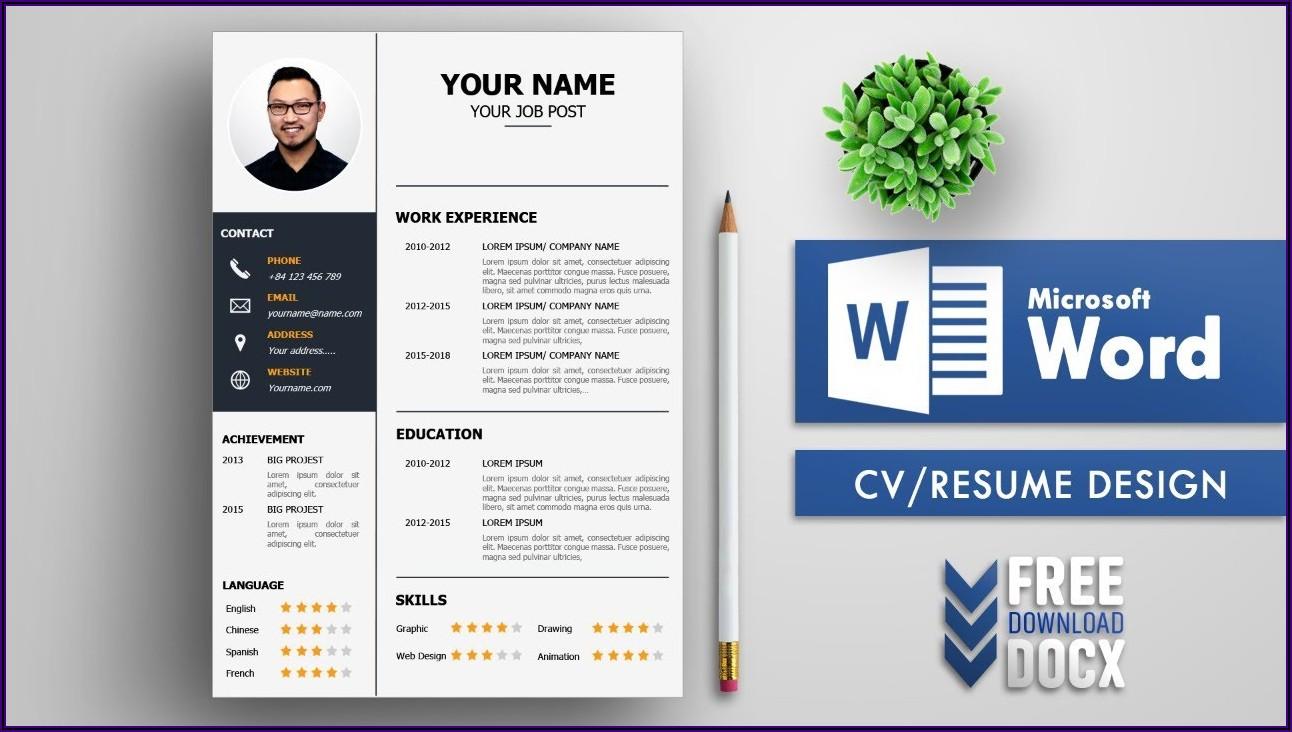 Free Cv Templates Download Microsoft Word