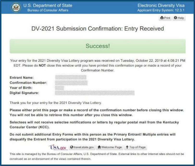 Free Dv Lottery 2021 Application Form Online