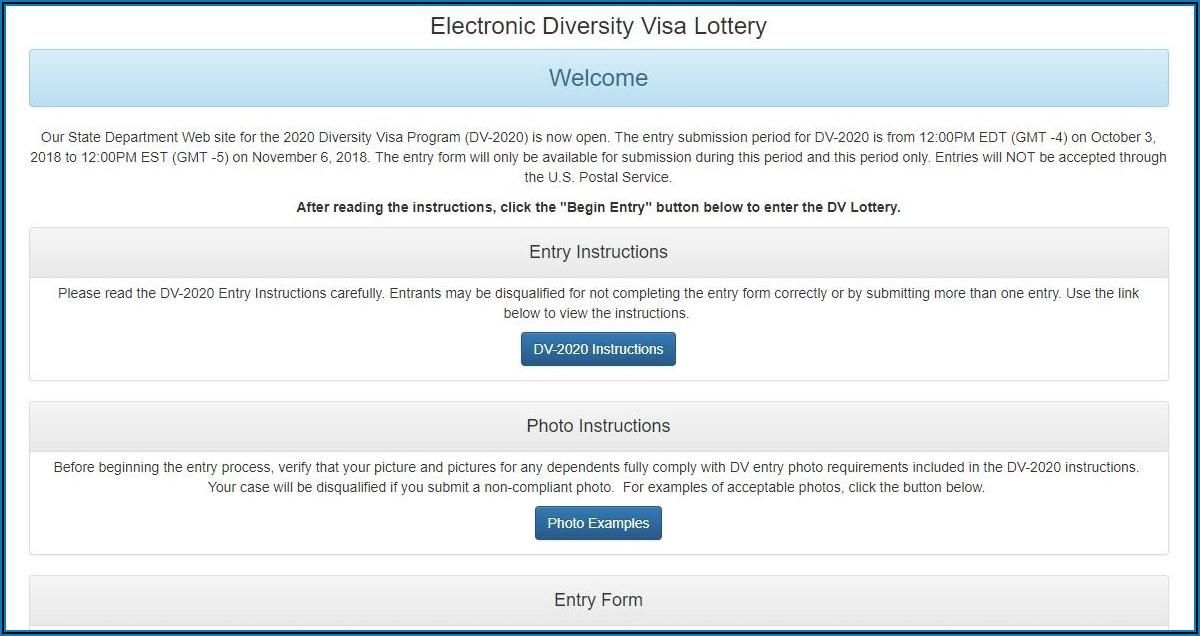 Free Dv Lottery Application Form