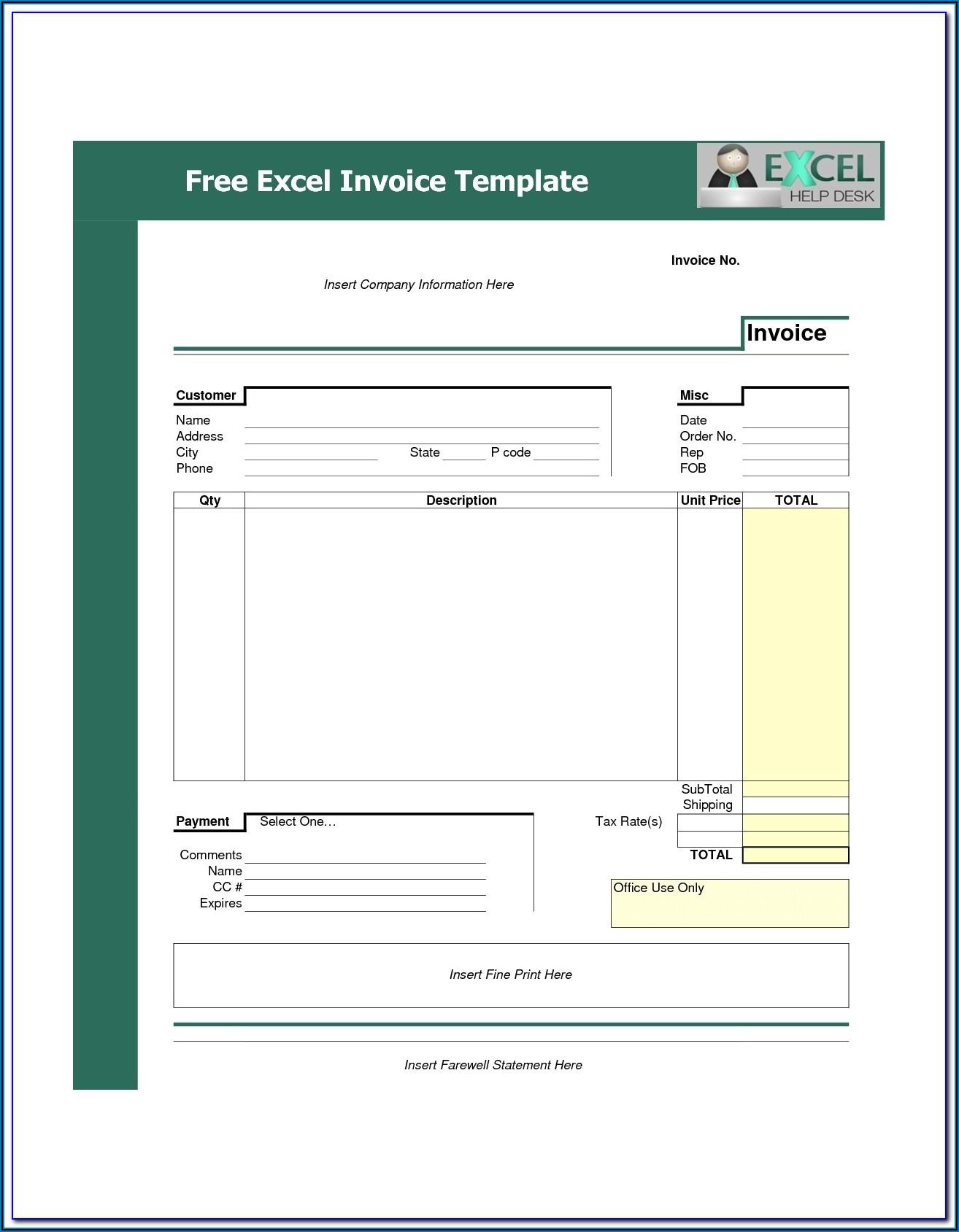 Free Invoice Forms Pdf