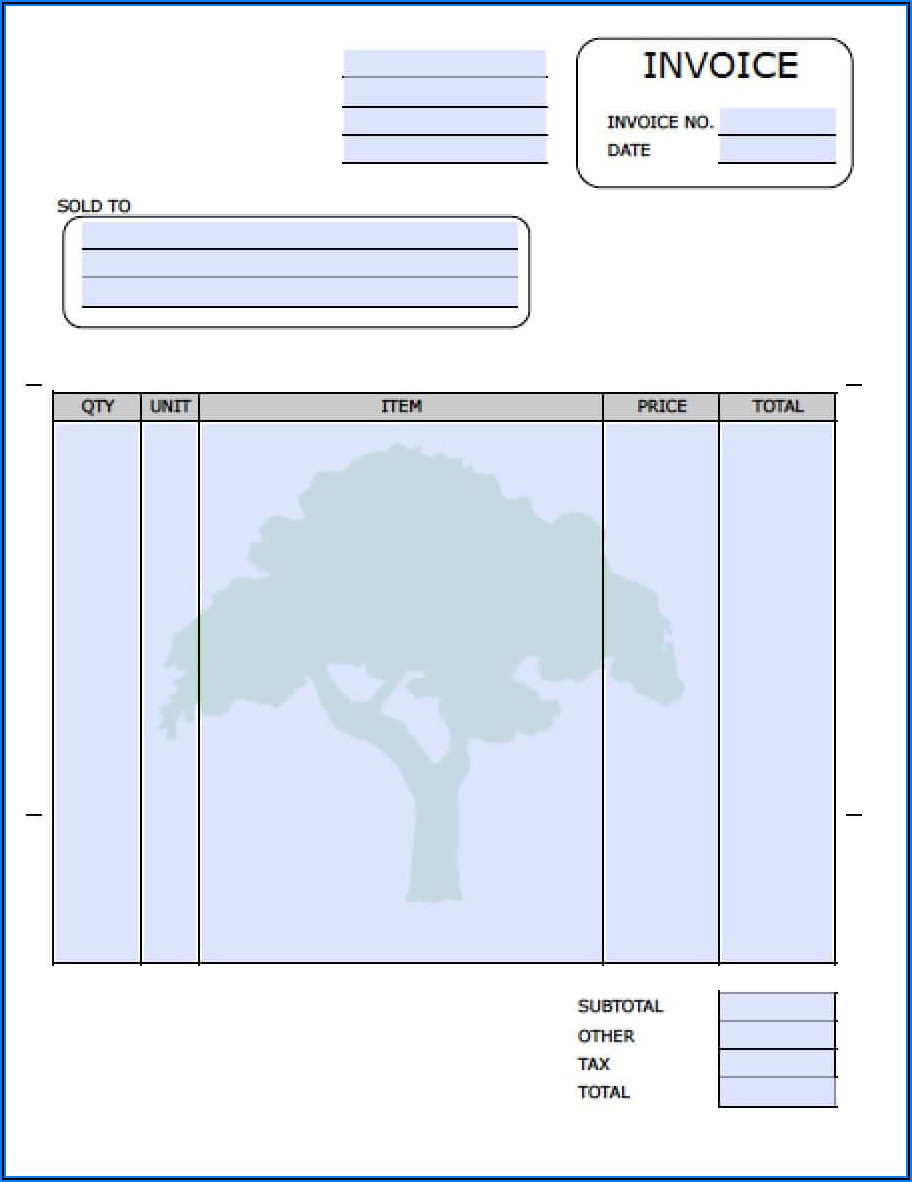 Free Landscape Invoice Forms
