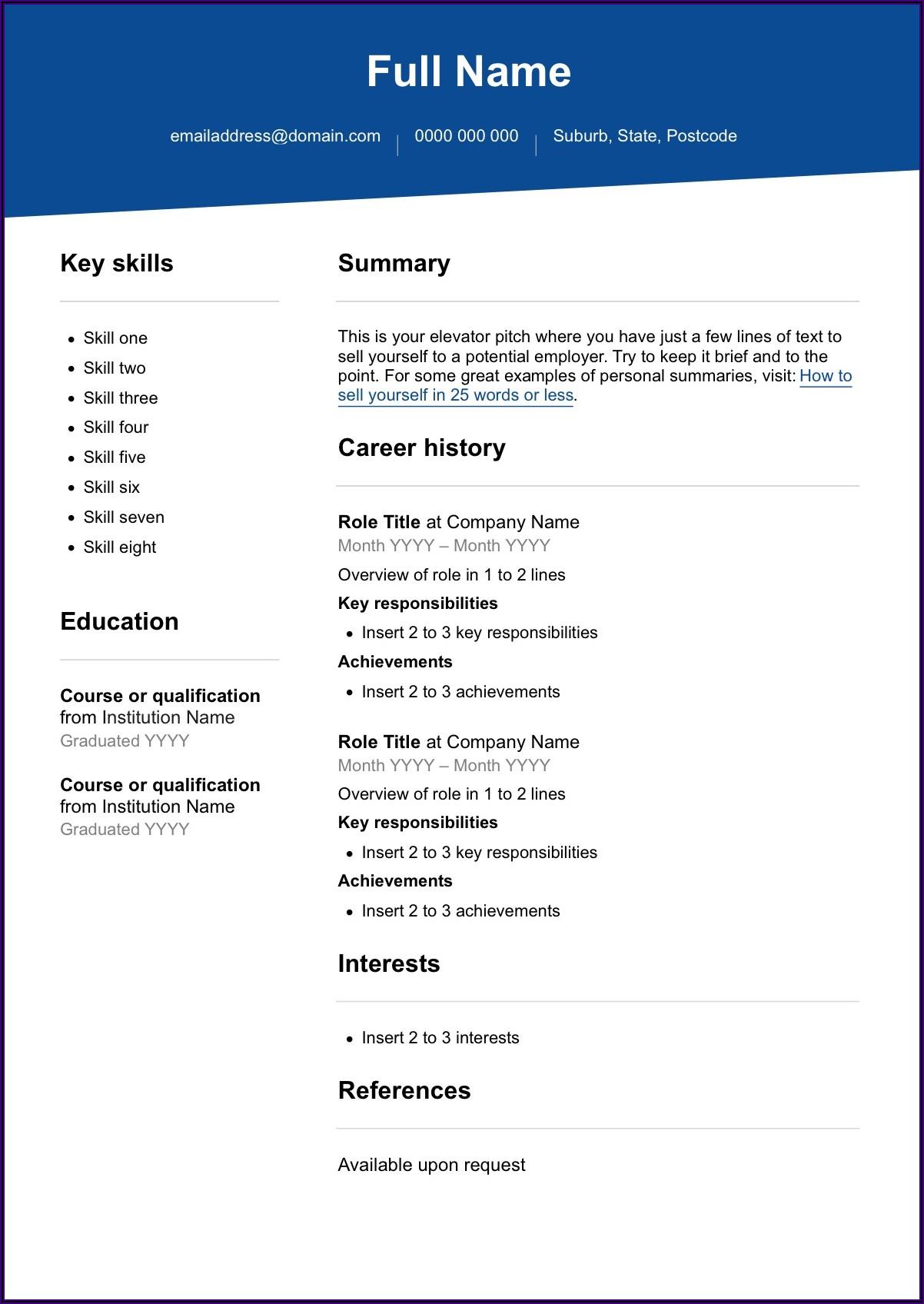 Free Nursing Cv Template Download