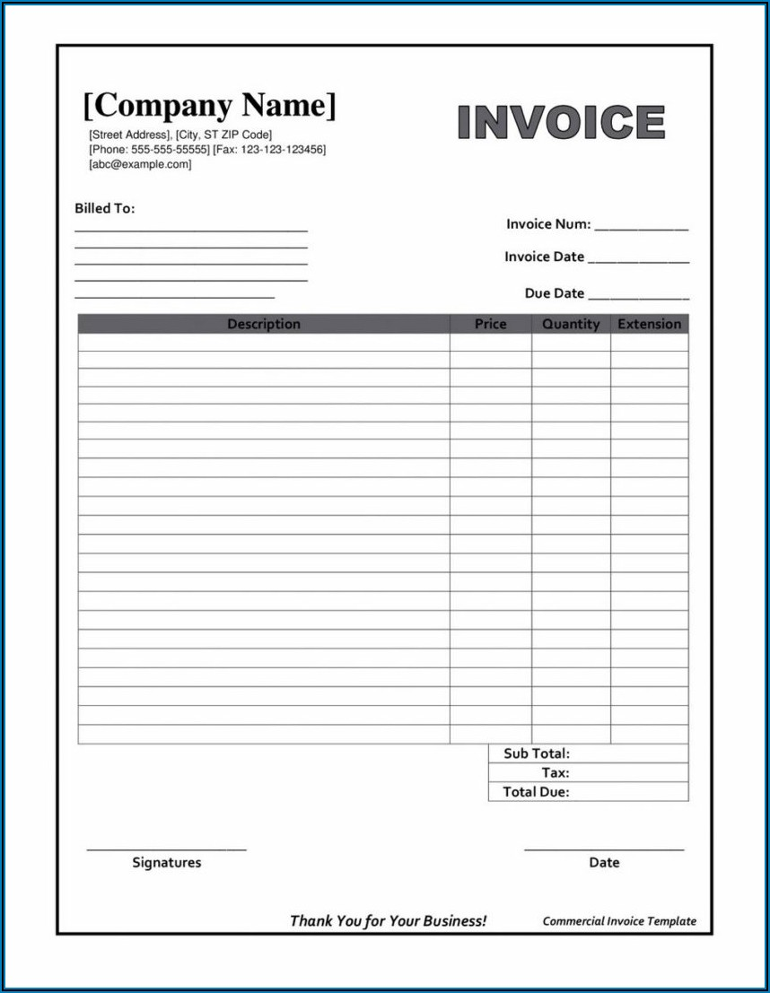 Free Online Invoice Template Pdf