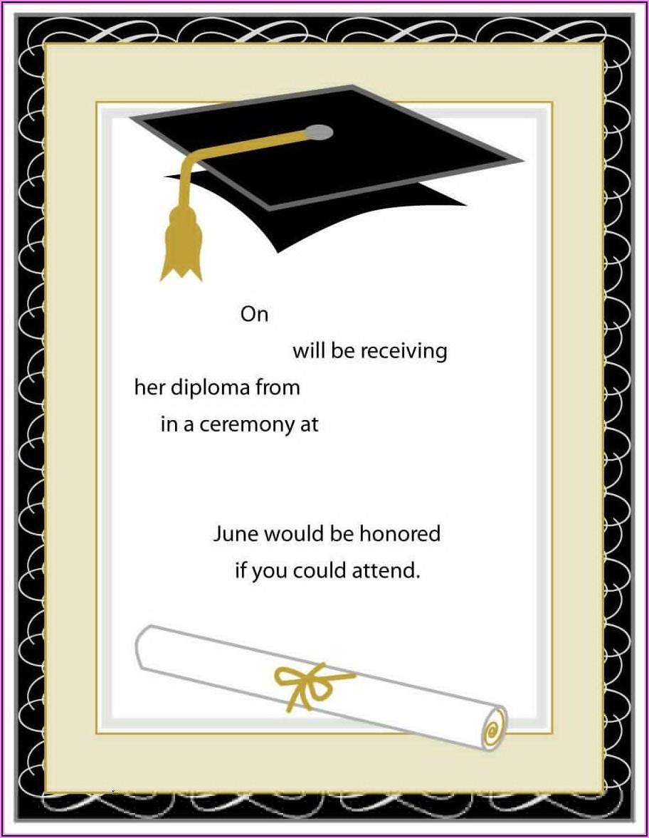 Free Preschool Graduation Invitation Templates For Word