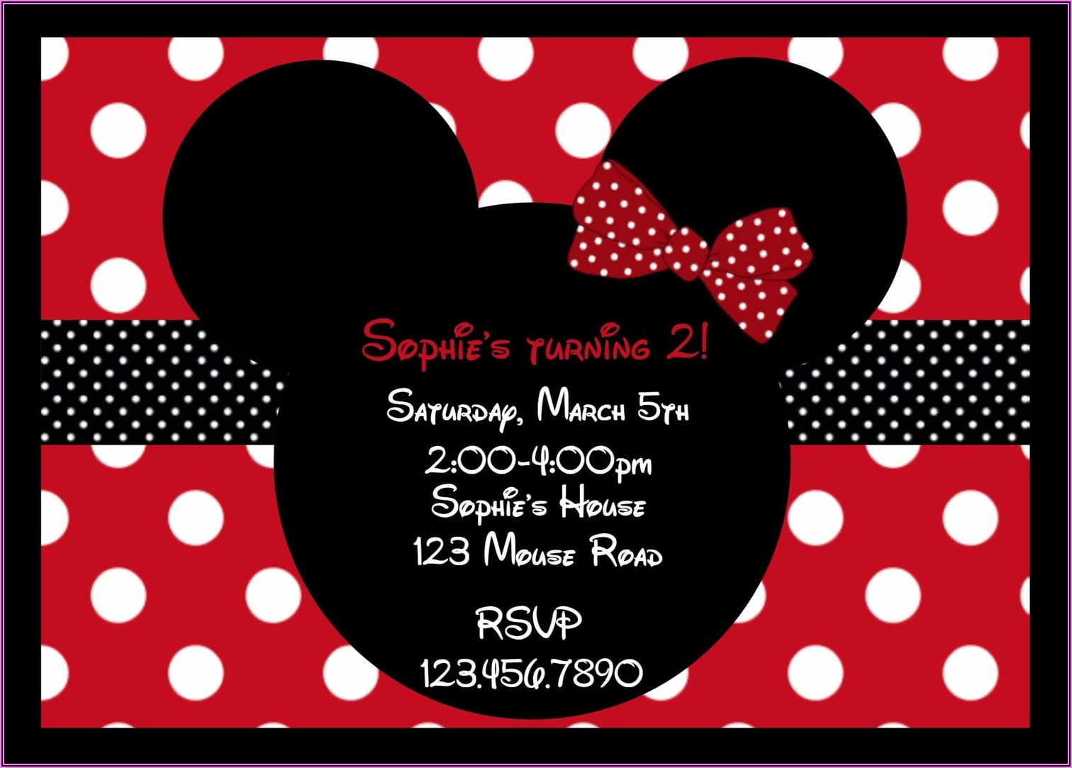 Free Printable Mickey And Minnie Mouse Birthday Invitations