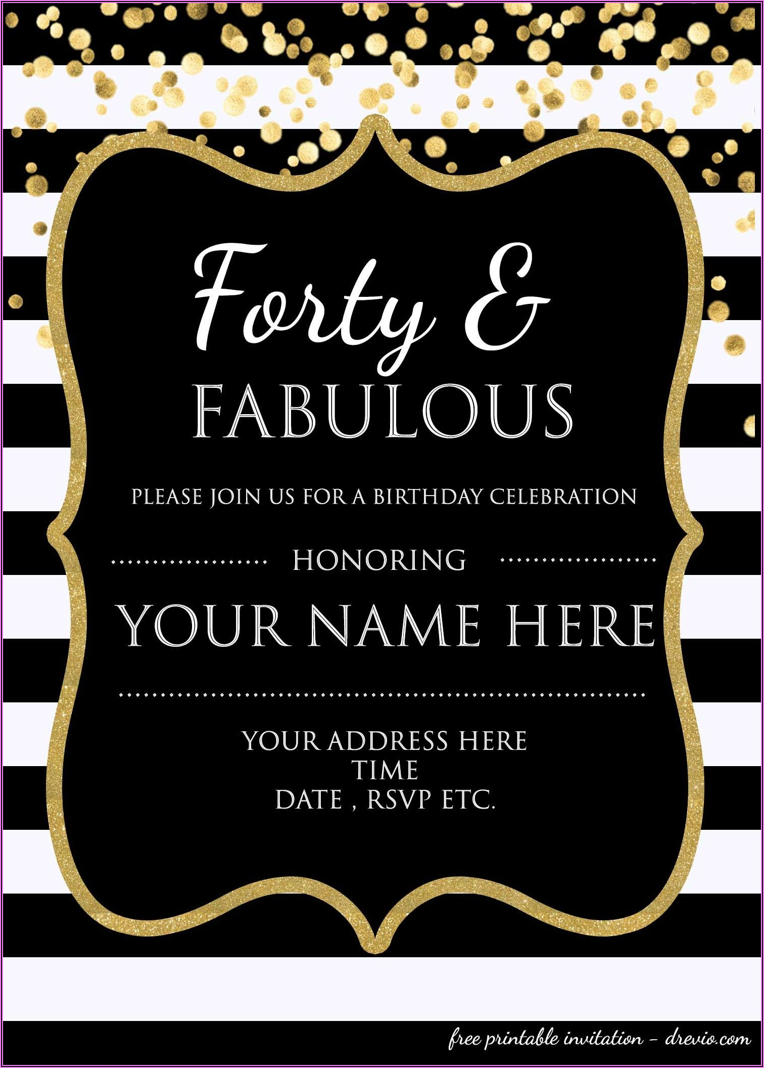 Free Printable Surprise Birthday Party Invitations For Adults