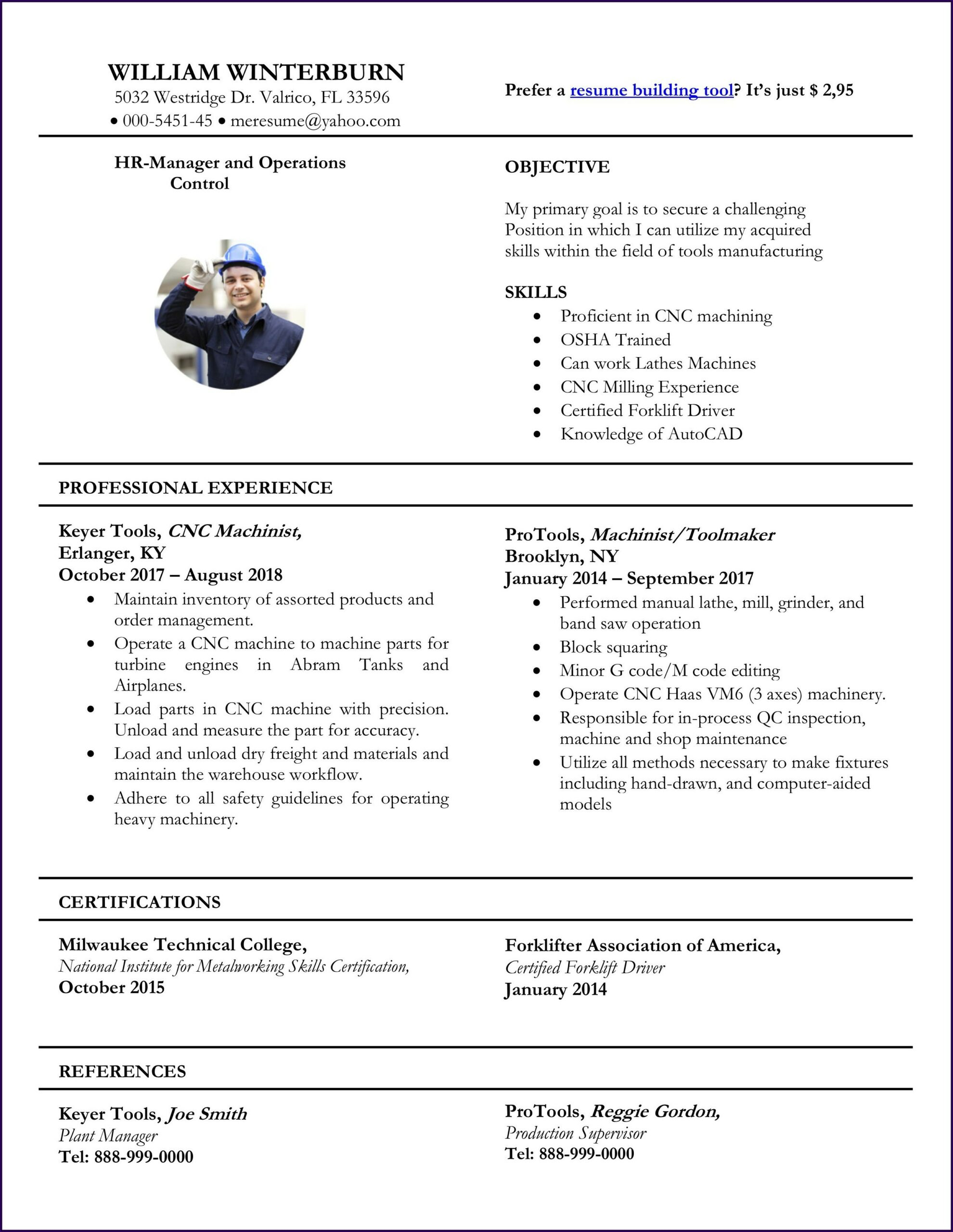 Free Resume Template Ms Word