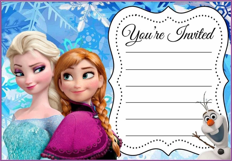 Frozen Birthday Party Invitations Online Free