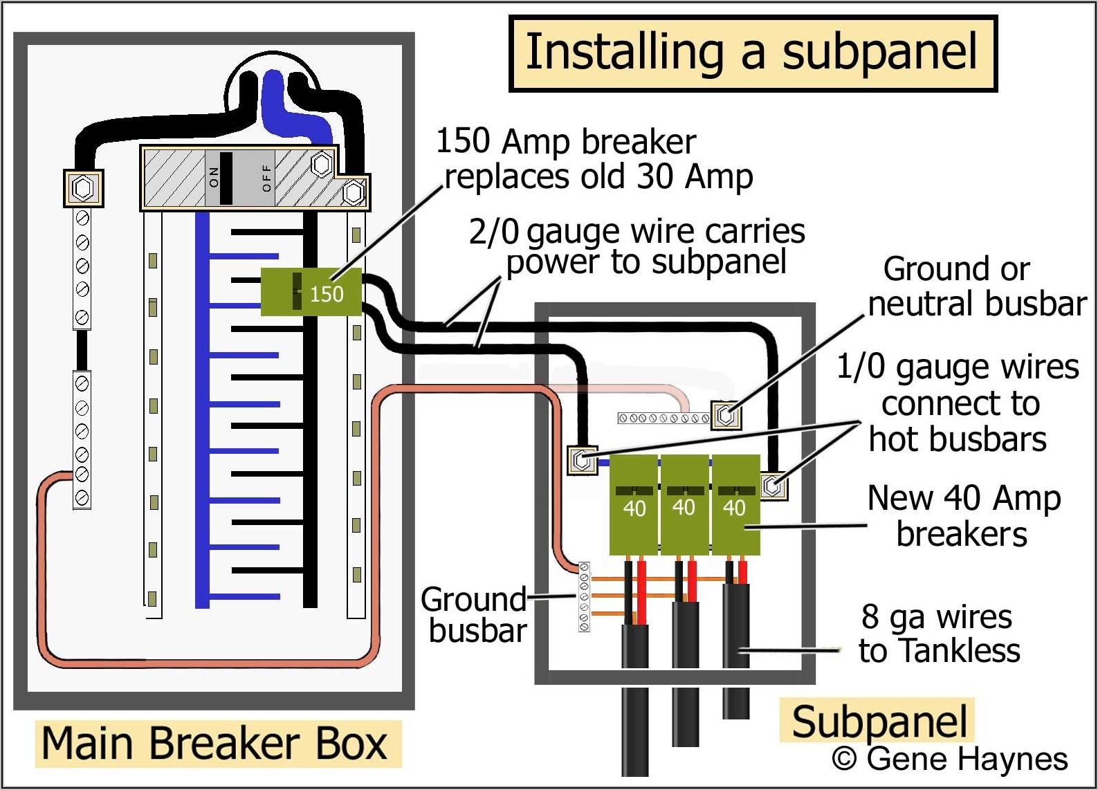 Generator Sub Panel Wiring Diagram