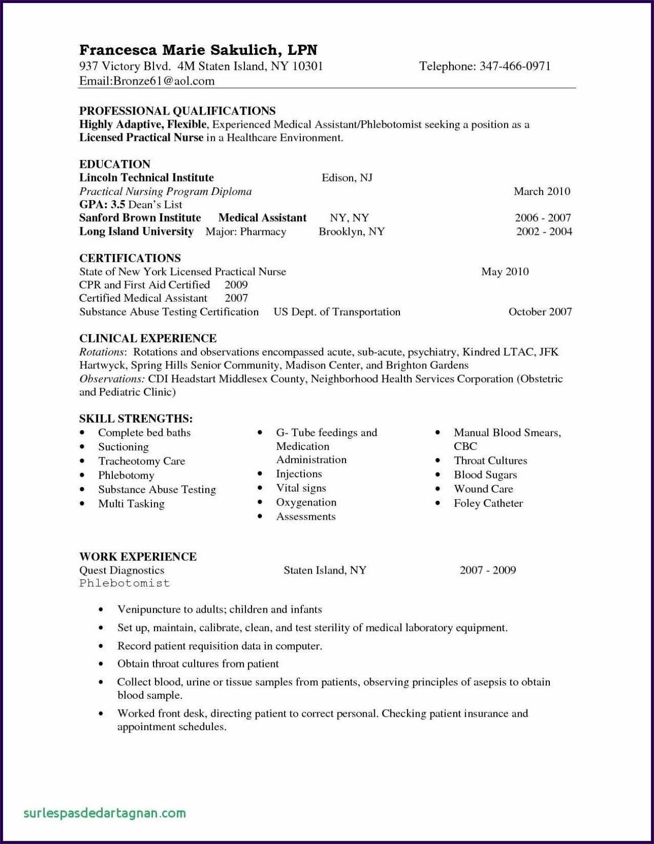 Graduate Registered Nurse Resume Sample