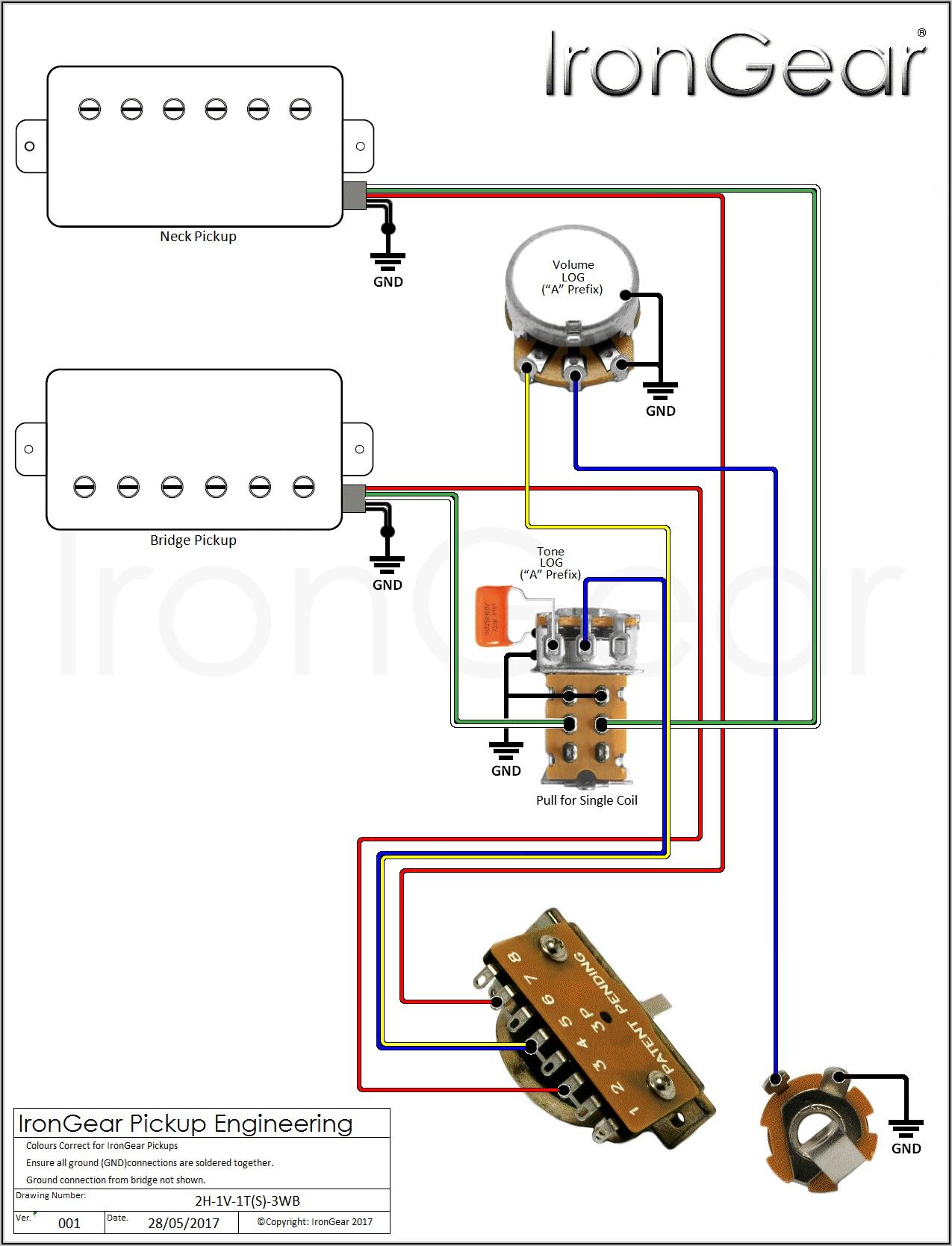 Guitar Wiring Diagrams 1 Pickup 1 Volume 1 Tone
