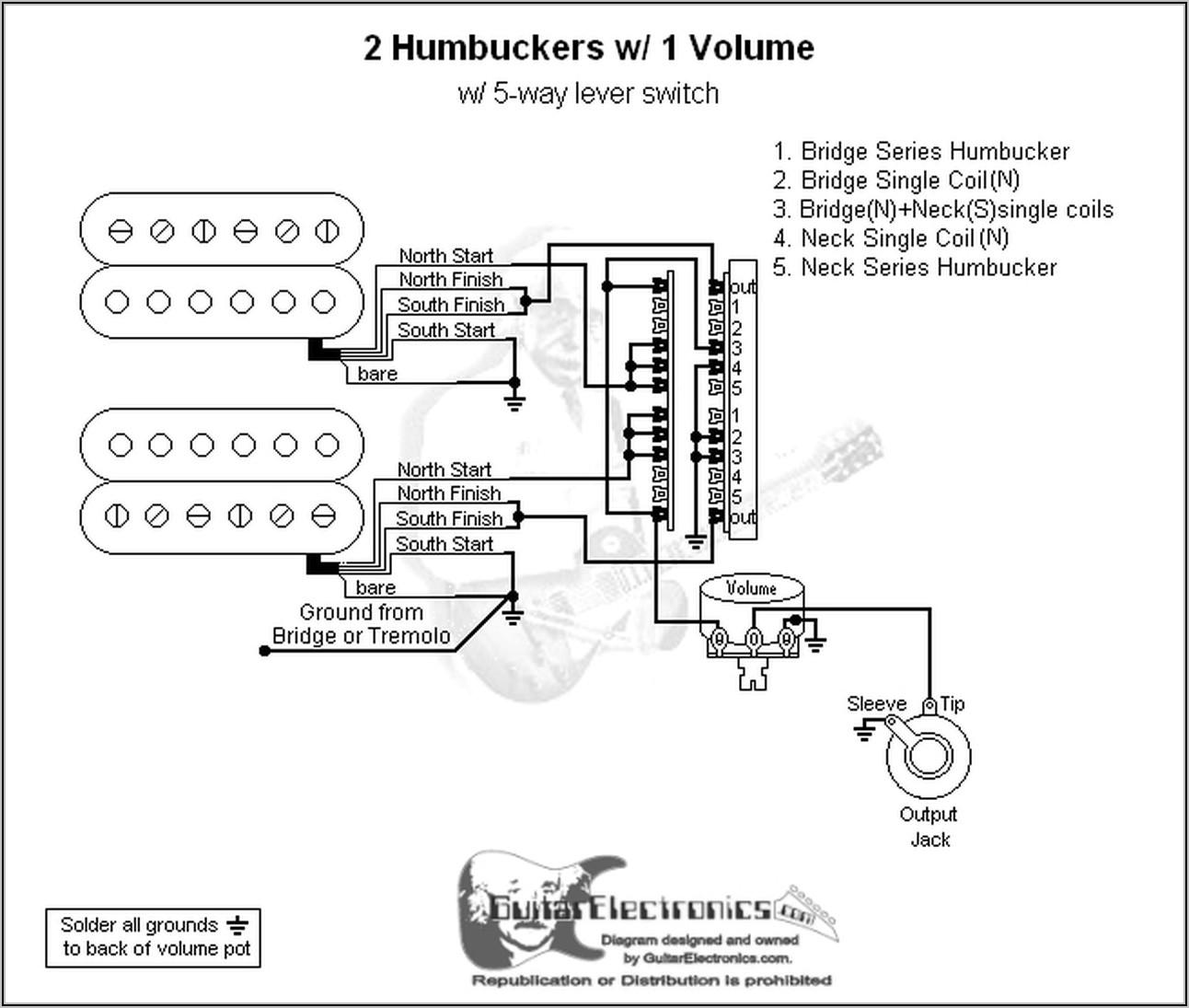 Guitar Wiring Diagrams 2 Pickups 5 Way Switch