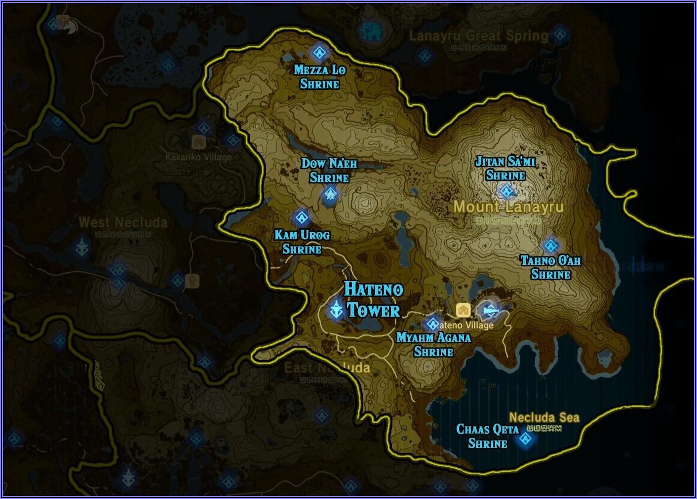 High Resolution Botw Shrine Map