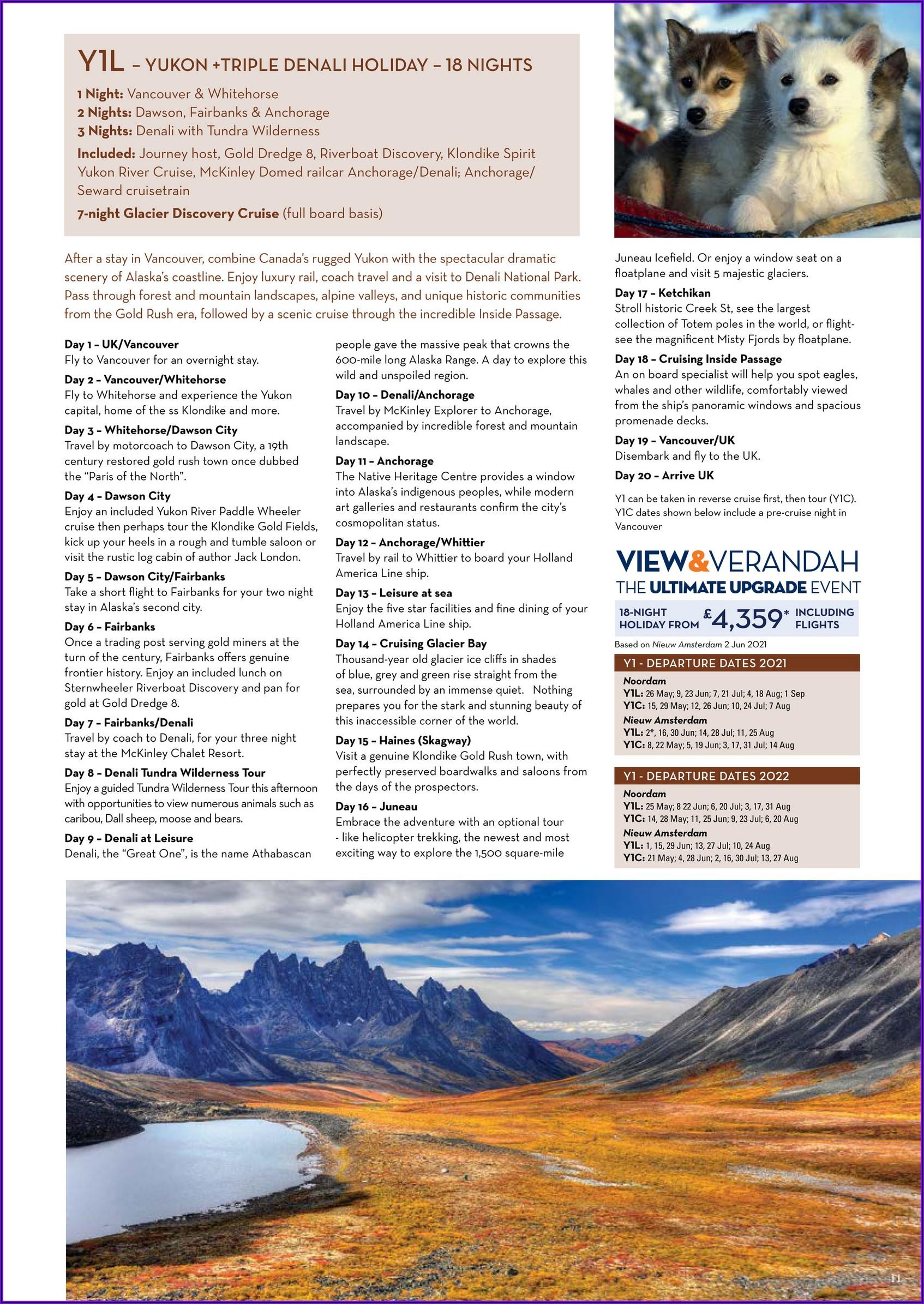 Holland America Alaska Brochure