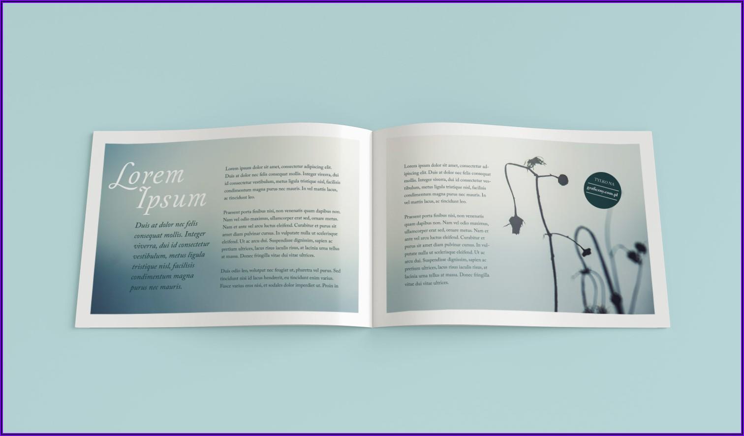 Landscape Bi Fold Brochure Mockup Free
